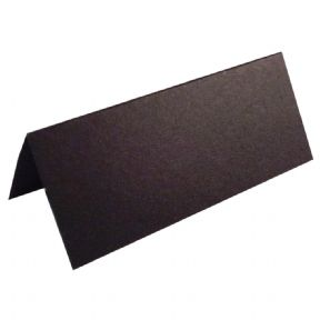 100 X Black Place Cards For Weddings & Parties